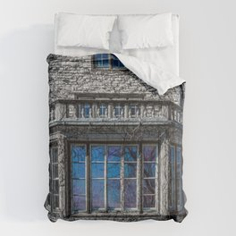 H. Clarke Mansion Evanston Illinois Bay Window Lakeside  Comforters