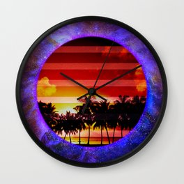 Synthwave Poster v.5 Wall Clock