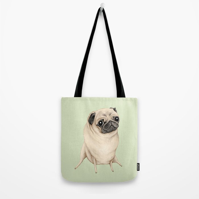 Sweet Fawn Pug Tote Bag