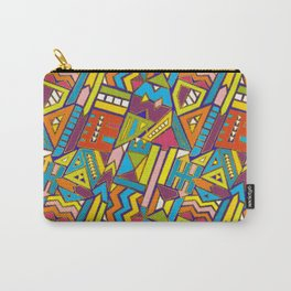 Colorful Geometric African Tribal Pattern Carry-All Pouch