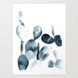 Indigo Paddle Cactus Art Print