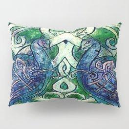 Celtic Peacocks Pillow Sham