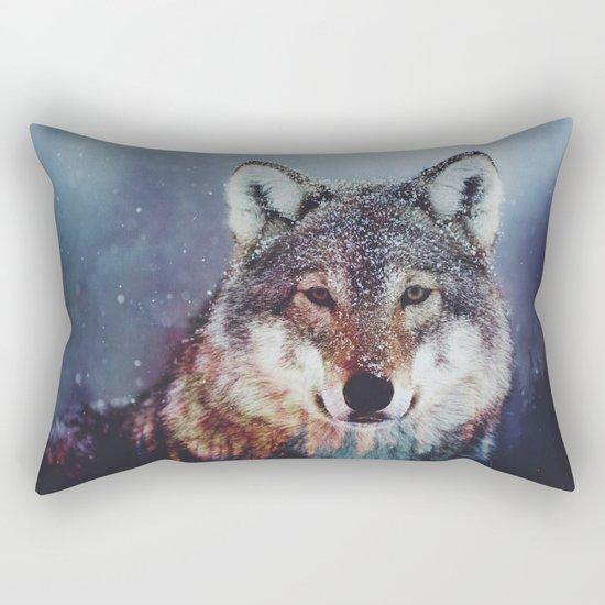 Wolf Double exposure Rectangular Pillow