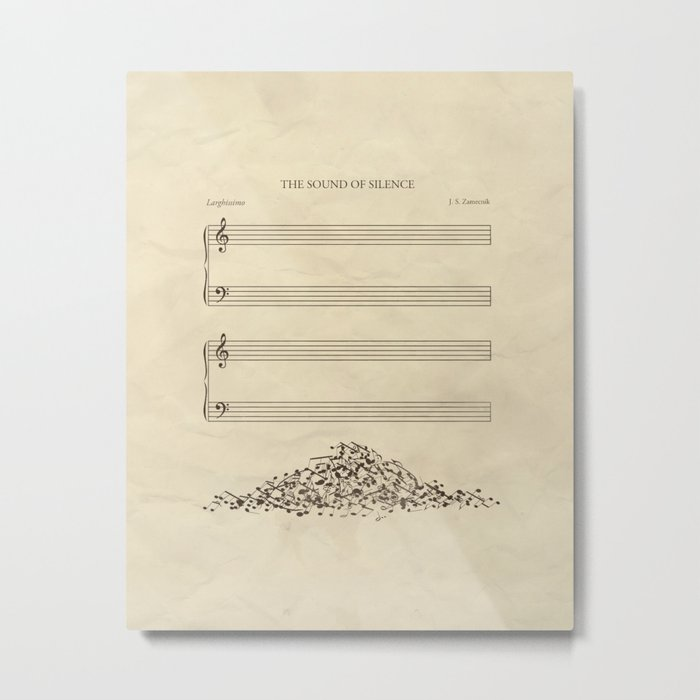 The Sound of Silence Metal Print