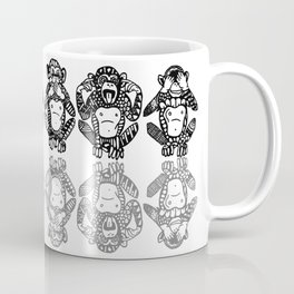 Wise Monkeys Coffee Mug