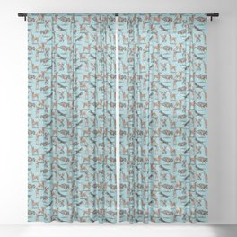 The Border Terrier Sheer Curtain