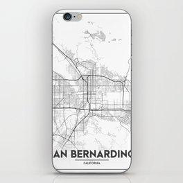 Minimal City Maps - Map Of San Bernardino, California, United States iPhone Skin
