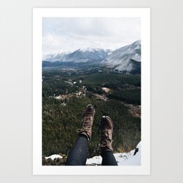 hanging out at second peak Art Print