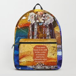 In Stillness, Lies Wisdom Backpack