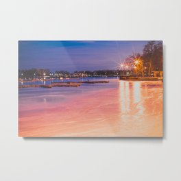 Belmont Harbor Metal Print