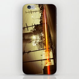Night ride iPhone Skin