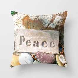 Peace by Mandy Ramsey Throw Pillow