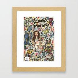 Nail Polish Painting Of Laura Marano Framed Art Print