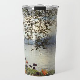 Lake Geneva and Alps, Montreux, Switzerland Travel Mug