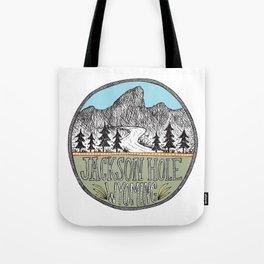 Jackson Hole circle illustration Tote Bag