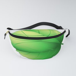Lime leaf. Yellow-green oak leaf, the volume on the light green background. Fanny Pack