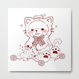 The Adventures of Bear and Baby Bear-Cats Metal Print