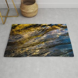 River Ripples in Copper Gold and Brown Rug