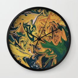 Melted Orchids Wall Clock