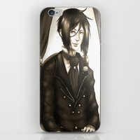 black butler iPhone & iPod Skins featuring Sebastian Michaelis - The Watchdog's Butler by Lalasosu2