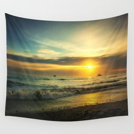 Pacific Coast Sunset Wall Tapestry