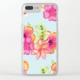 Summer floral pattern V5 #society6 Clear iPhone Case