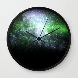 Falling sparkles Wall Clock