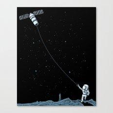 Satellite Kite Canvas Print