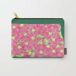 North Dakota in Flowers Carry-All Pouch