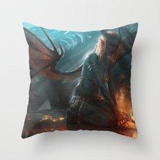 Succubus Throw Pillow