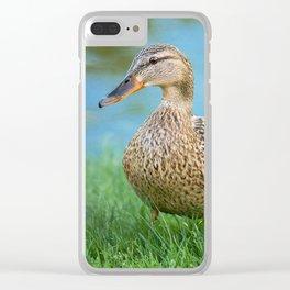 Lady Mallard Clear iPhone Case
