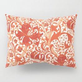 William Morris Iris and Lily, Mandarin Orange Pillow Sham
