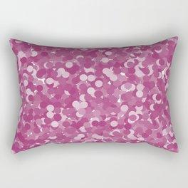 Festival Fuchsia Polka Dot Bubbles Rectangular Pillow