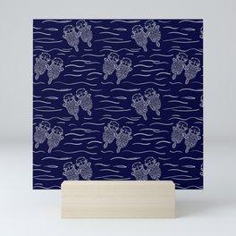 Otterly Devoted Mini Art Print