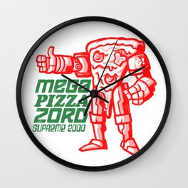 MEGA PIZZA ZORD SUPREME 2000 Wall Clock