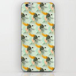 Parrots Print (Coral) iPhone Skin