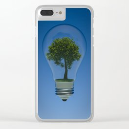 Green Light Clear iPhone Case