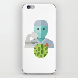 Bacteriologist Icon iPhone Skin