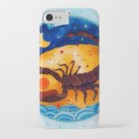 scorpio iPhone & iPod Cases featuring Scorpio by Sandra Nascimento