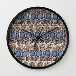 Blue Peafowl Wall Clock