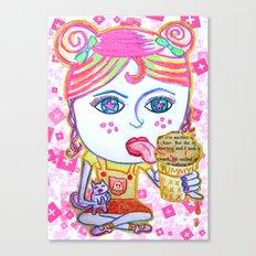 LeeLoo the Icecream Thief Canvas Print
