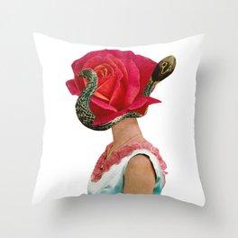 Cobra Head Throw Pillow