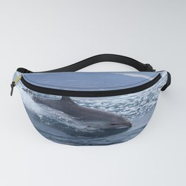 Wild and free bottlenose dolphin Fanny Pack