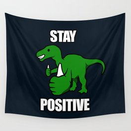 Stay Positive Iguanodon Wall Tapestry