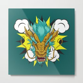 Golden Dragon Metal Print