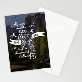 Psalm 91 with Background Stationery Cards