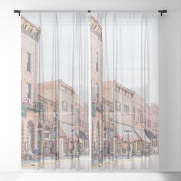 Town of Deadwood Sheer Curtain