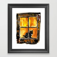 Looking out the Window Framed Art Print