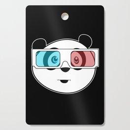 Panda - 3D Glasses Cutting Board