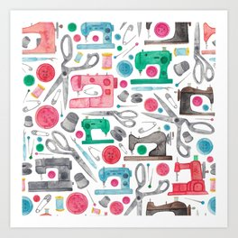 Sewing Pattern. Art Print